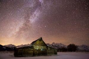 Moulton Barn at night