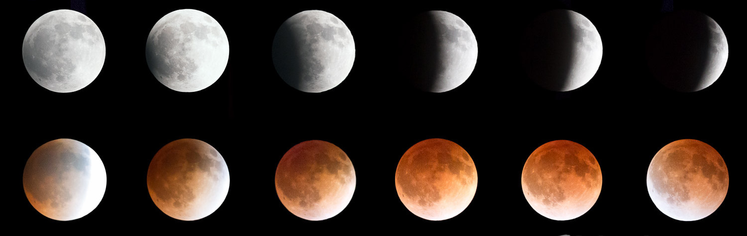 Phases of 2014 Blood Moon