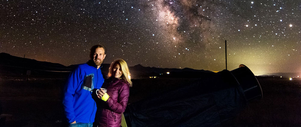 Couple with Milky Way