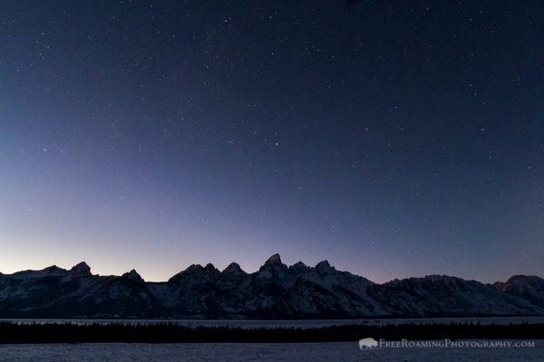 Twilight over Tetons