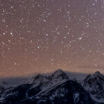 Zodiacal Light and Orion over Tetons